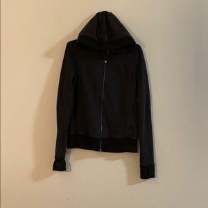 Lululemon black striped zip hoodie